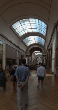 The other half of one hall containing Italian paintings. This hall does not contain all the Louvre's Italian paintings.