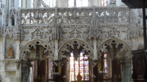 The jubé (rood screen in English) at St Madeline