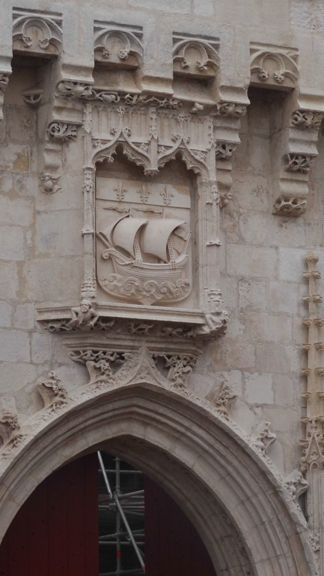 La Rochelle's coat-of-arms. La Rochelle has been a sea-faring city since its founding - by the Romans!