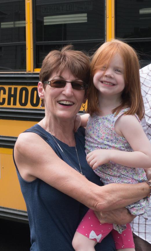Grandma meets Clara's bus.