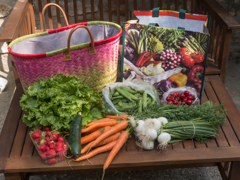 Our bag o' food from the farm truck.