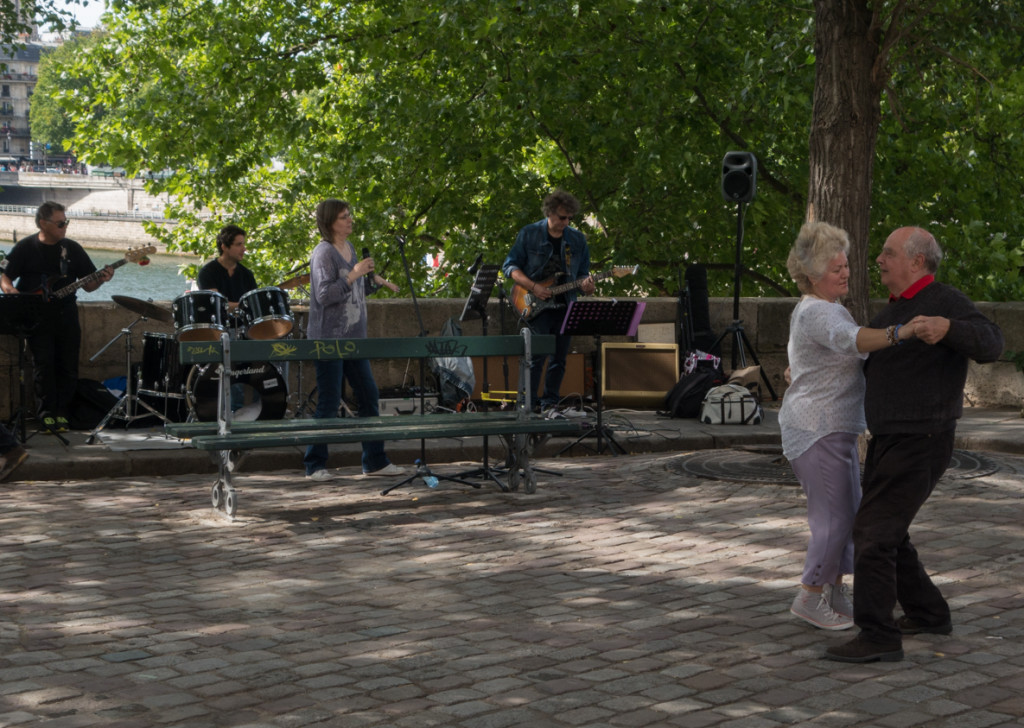 Not a great band, but soon after this couple started dancing, many joined in.