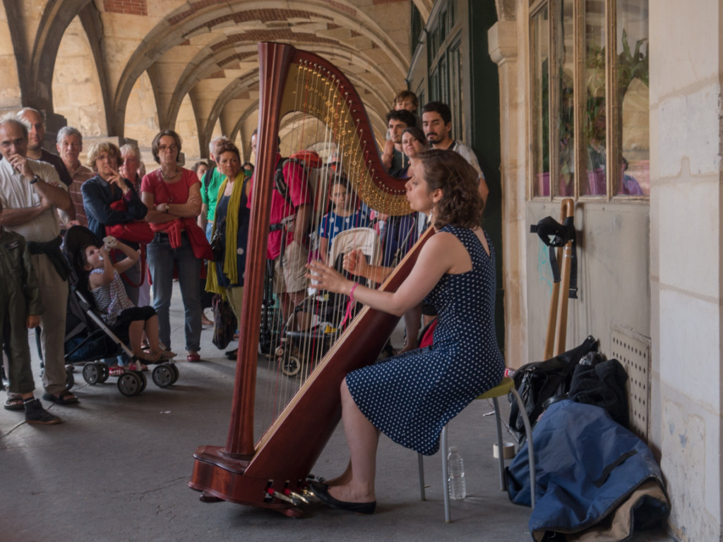 Margot Varret - jazz harp! She was wonderful.