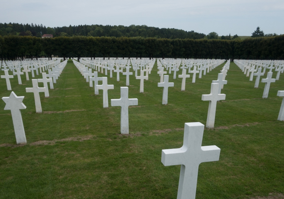 The American cemetery at Romagne. 14,267 American soldiers lie here.